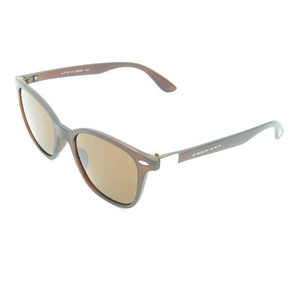 Óculos de Sol Prorider Marrom Translúcido Fosco com Prata - LL3103C4