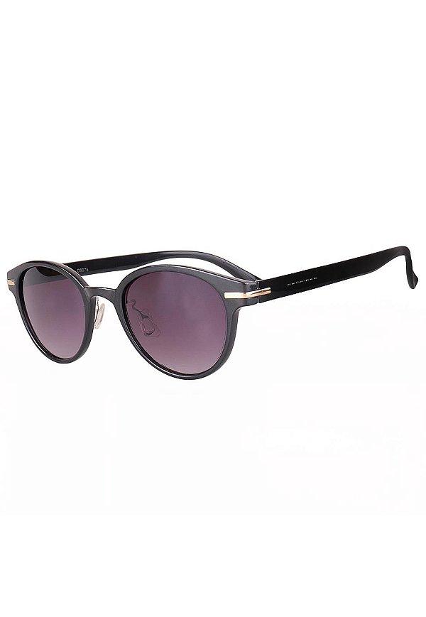 Óculos de Sol Retro Prorider Preto com Detalhe Dourado - D9075