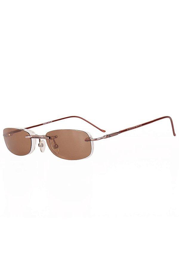 Óculos Retro de Sol e de Grau Clip-on Prorider Dourado com Marrom - H088517