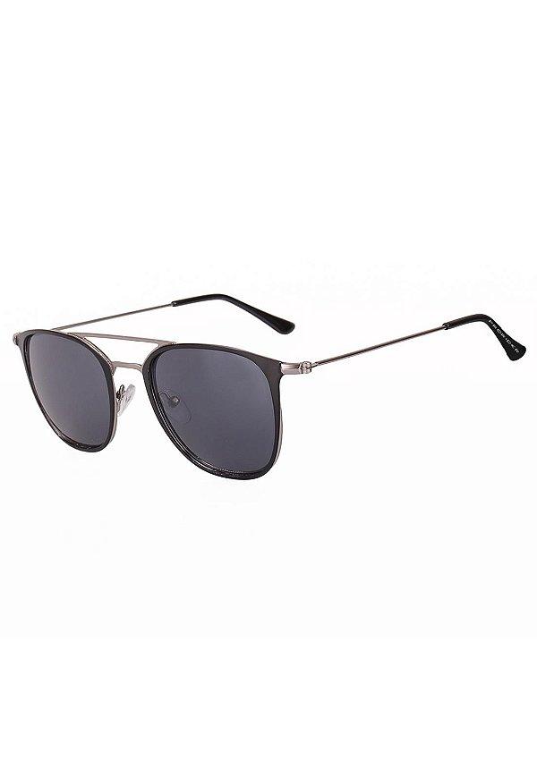 Óculos de Sol Retro Prorider Preto e Prata - HT3470C1