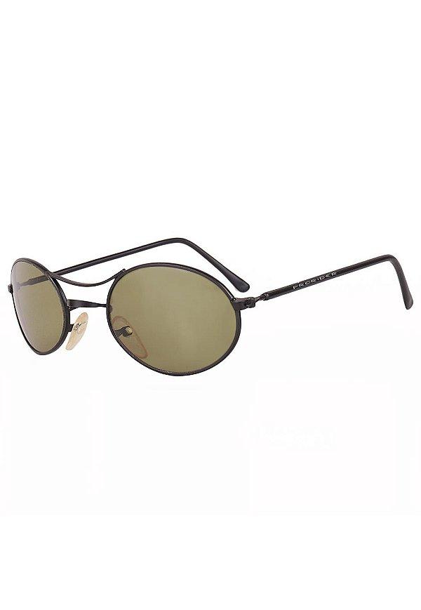 Óculos de Sol Retro Prorider Preto Fosco com Lente Verde - LEE