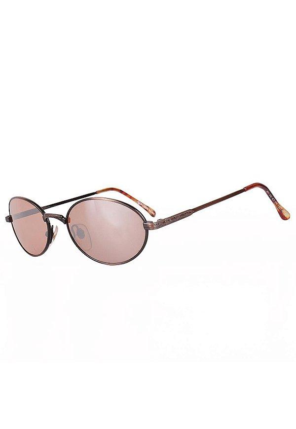 Óculos de Sol Redondinho Prorider Hype Retro Preto com Dourado Escuro