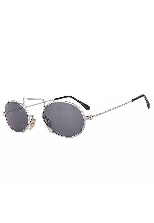 Óculos de Sol Redondinho Prorider Retro Prata Fosco - TASOS