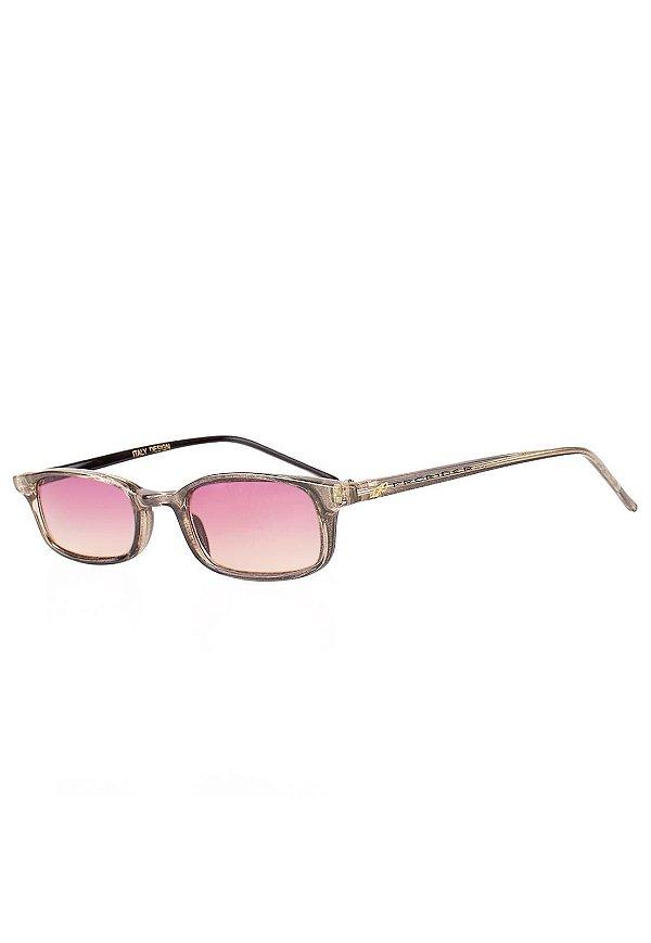Óculos de Sol Prorider Retro Translúcido Marrom Claro com Lente Degrade