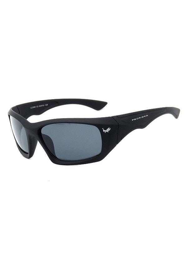 Óculos de Sol Esportivo Prorider Preto Fosco com Lente Fumê