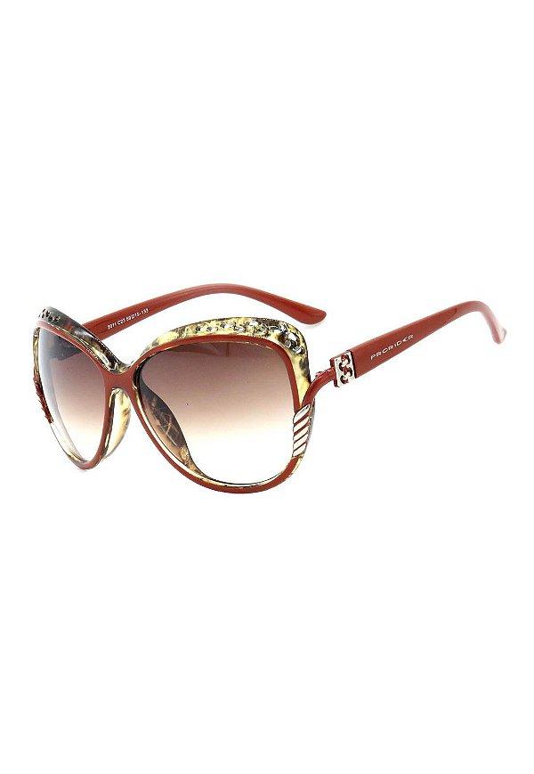 Óculos de Sol Mascara Prorider Marrom Avermelhado Detalhado