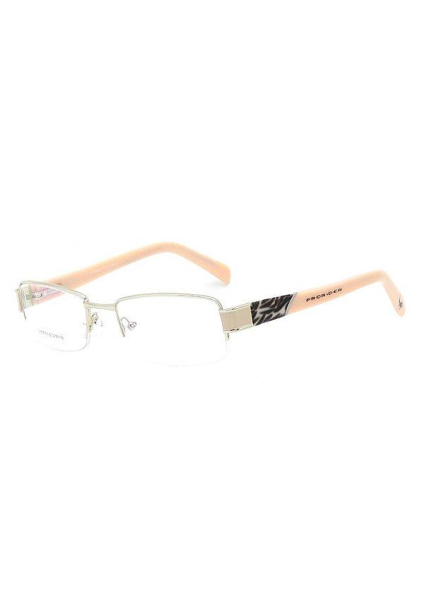 Óculos de Grau fio de Nylon Prorider Rosa Claro com Dourado