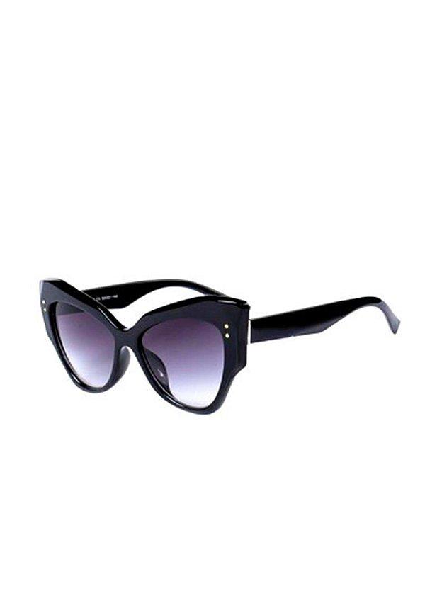Óculos de Sol Gatinho Prorider Preto com Detalhes Dourados