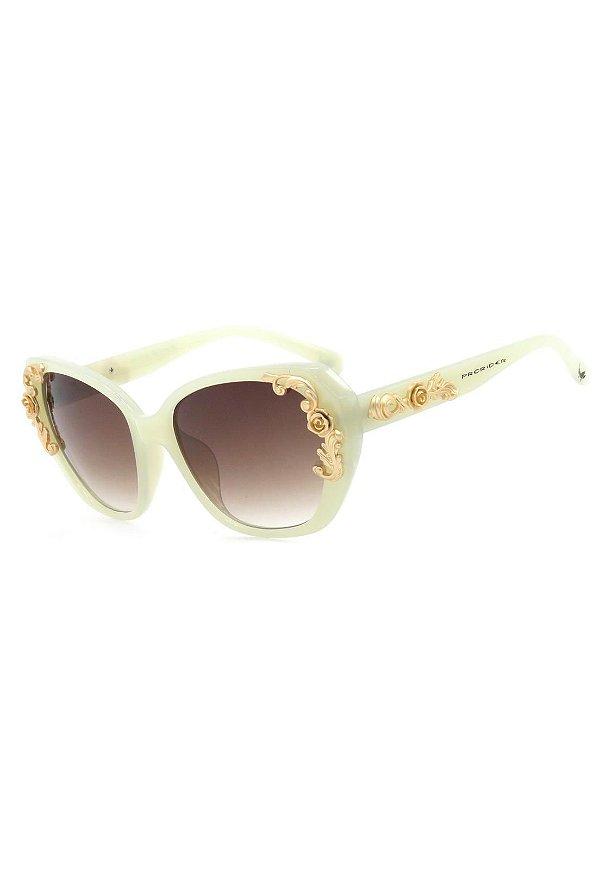 Óculos de Sol Prorider Bege Translúcido com Dourado Fosco