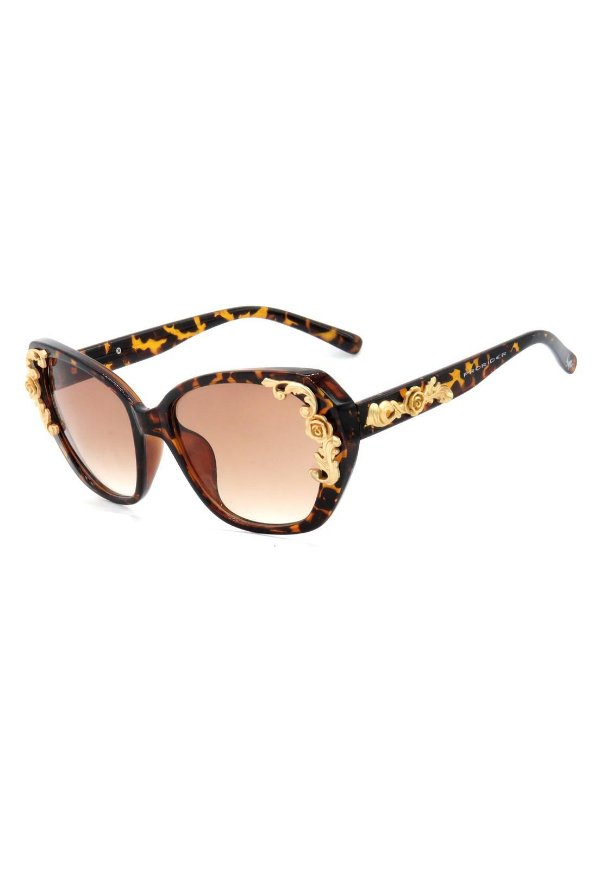 Óculos de Sol Mascara Prorider Animal Print Translúcido com Dourado Fosco