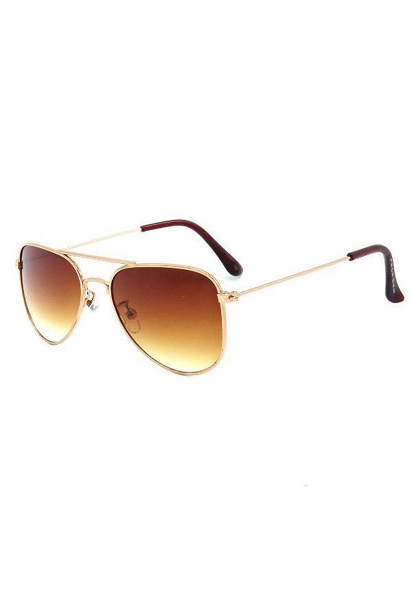 Óculos de Sol Prorider Infantil Aviador Dourado com Lente Degrade - FIRE