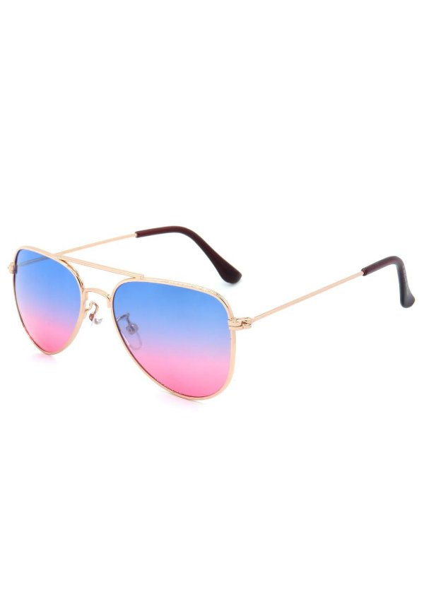 Óculos de Sol Prorider Infantil Aviador Dourado com Lente Degrade - JOLLY