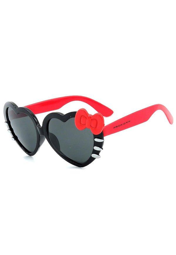 Óculos de Sol Prorider Infantil Preto e Vermelho - ZXD28-1
