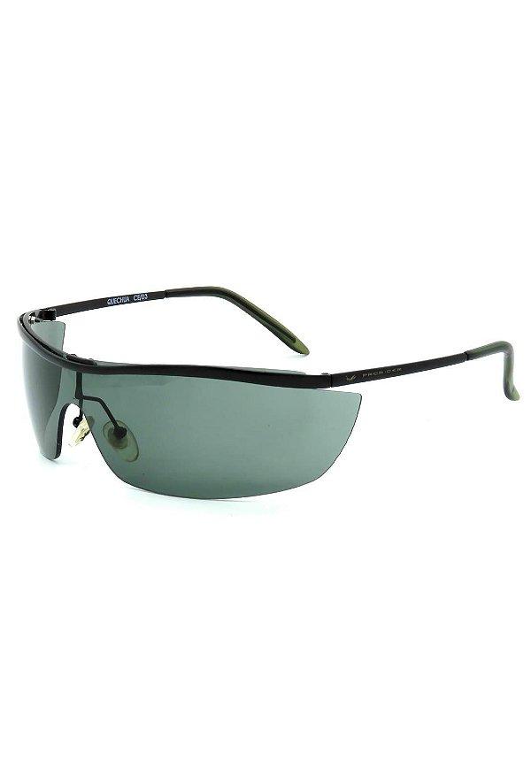 Óculos de Sol Retro Prorider Preto Fosco com Lente Verde - 725