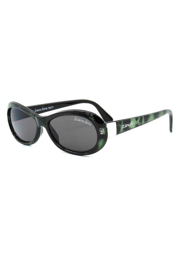 Óculos de Sol Retro Prorider Preto com Degrade Verde - TS575