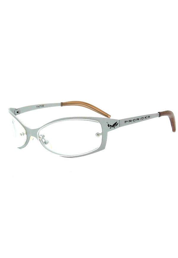 Óculos Receituário Retro Prorider Prata Fosco - FACTOR