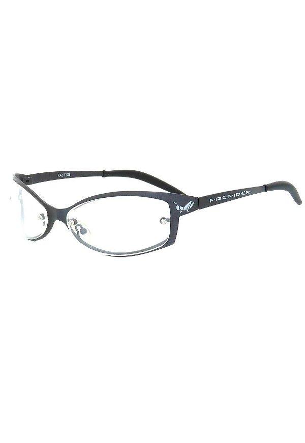 Óculos Receituário Retro Prorider Grafite Fosco - FACTOR-1