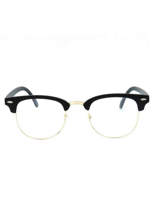 Óculos de Grau Prorider Preto Fosco com Dourado - XM3016-1