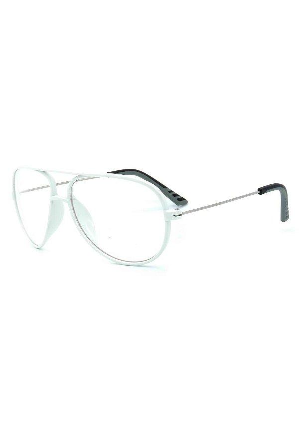 Óculos de Grau Prorider Branco e Prata - ATHLETE