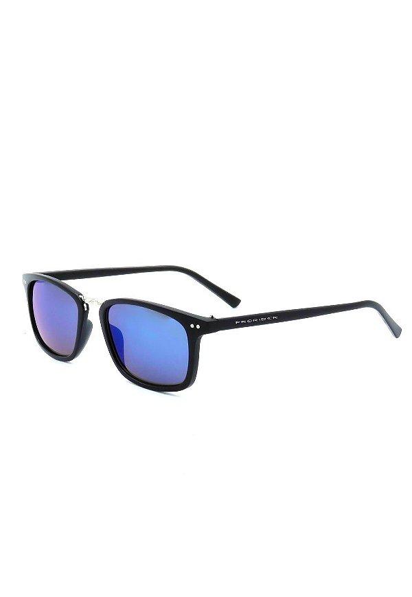 Óculos De Sol Prorider Preto Fosco com Detalhe Prata - HP4354C8