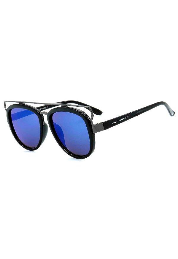 Óculos de Sol Prorider Grafite e Preto com Lente Espelhada - LM9272C2