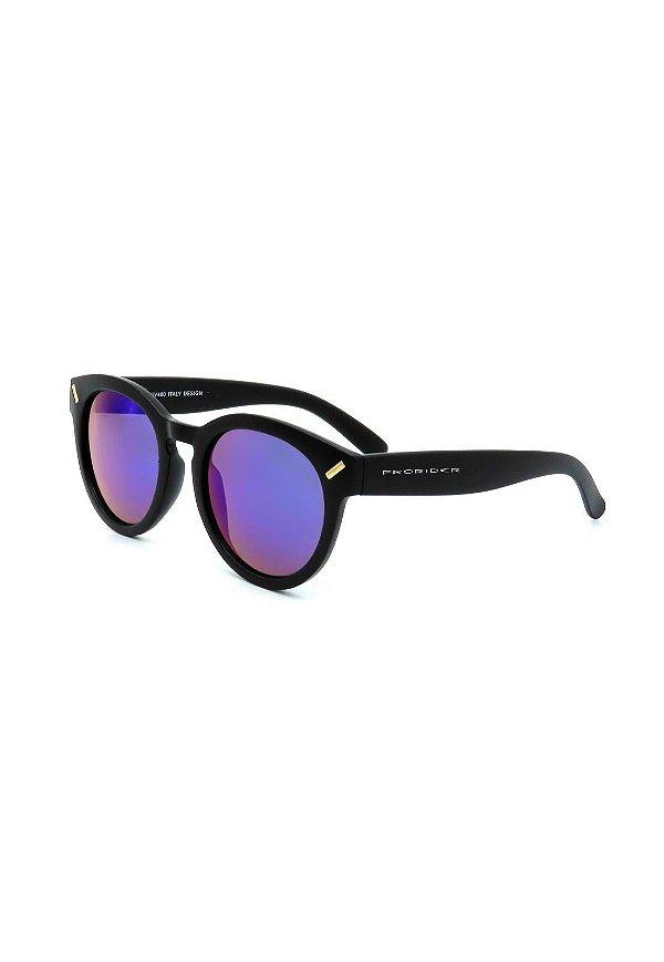 Óculos De Sol Prorider Preto Fosco com Lente Espelhada - YD1460C4