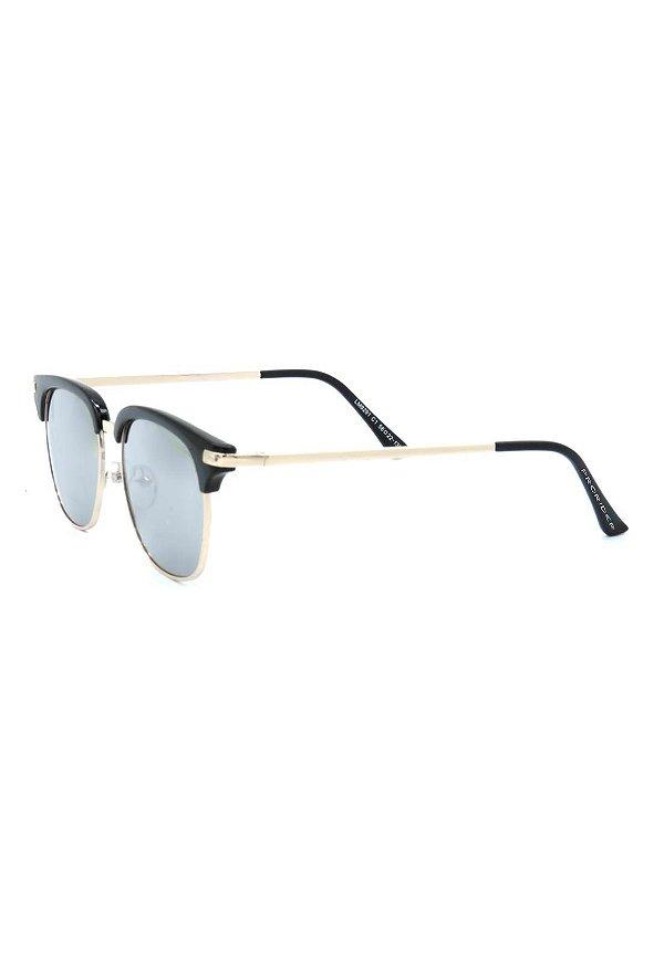 Óculos de Sol Prorider Preto e Dourado com Lente Espelhada - LM9291C1