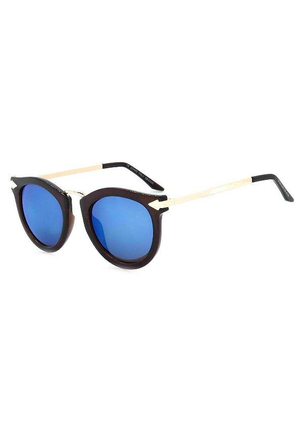 Óculos de Sol Prorider Marrom com Dourado - YD1666C4