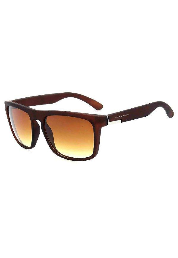 Óculos de Sol Prorider Marrom Fosco com Detalhe Prata - HJ02