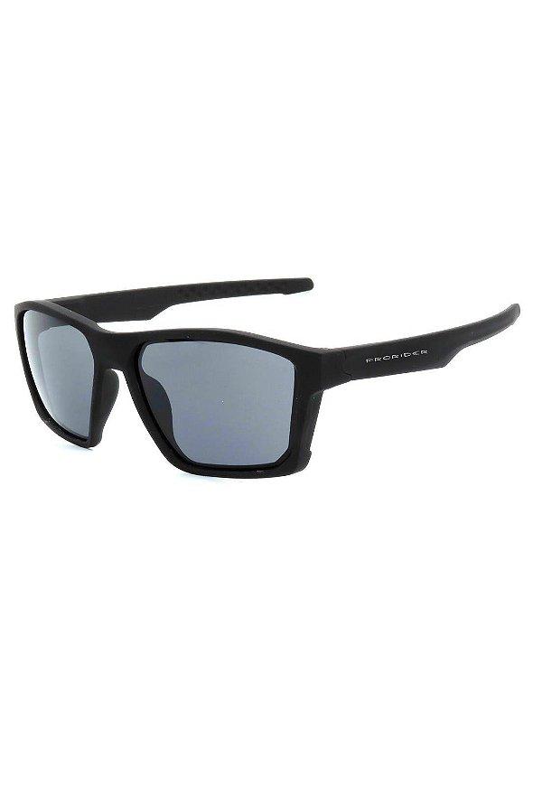 Óculos de Sol Prorider Preto Fosco com Lente Fumê - 2550