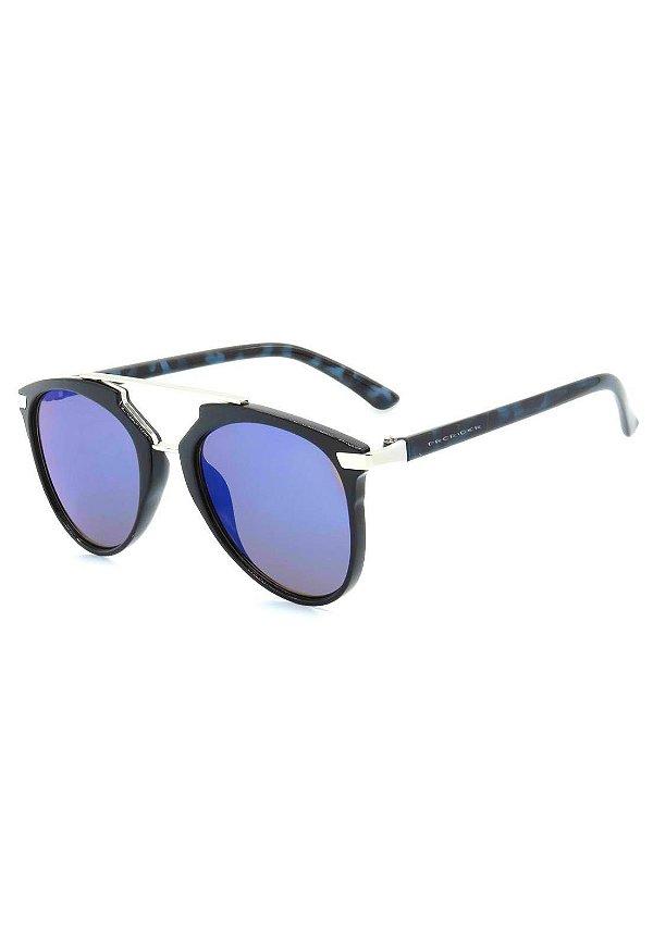 Óculos de Sol Prorider Preto e Prata com Lente Espelhada - B88-1320