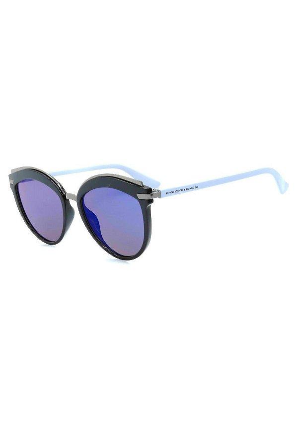 Óculos de Sol Prorider Grafite, Preto e Azul com Lente Espelhada - B88-1348-2