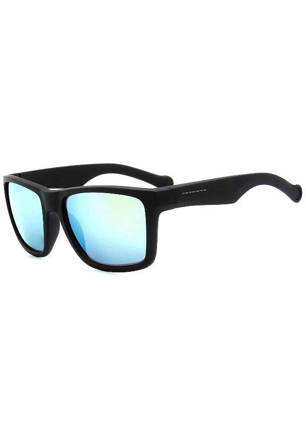 Óculos de Sol Prorider Preto Fosco com Lente Espelhada - XZ-56-5