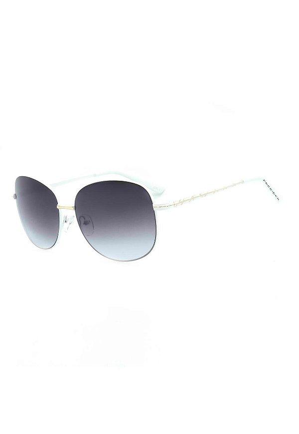 Óculos de Sol Prorider Branco e Dourado com Lente Degrade - 8110C2