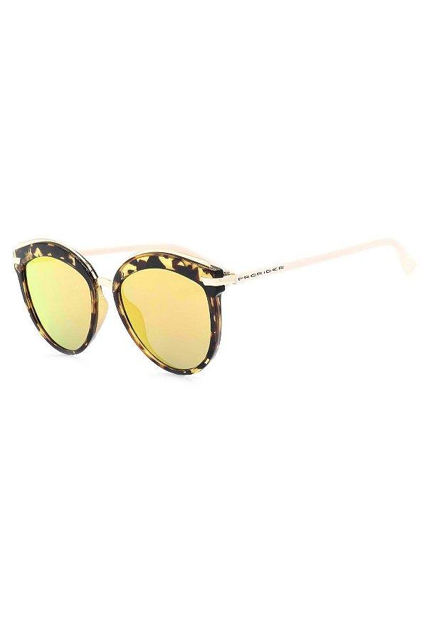 Óculos de Sol Prorider Animal Print Translúcido com Lente Espelhada - B88-1348-1