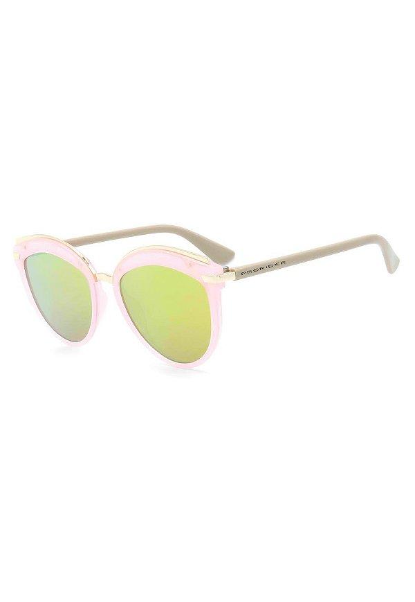 Óculos de Sol Prorider Rosa e Dourado com Lente Espelhada - B88-1348