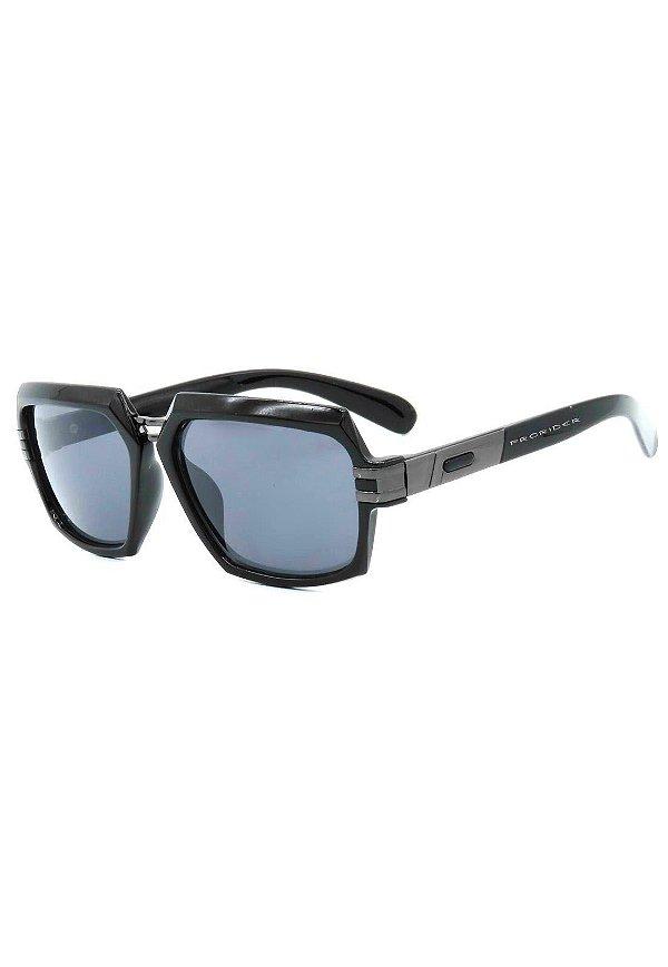 Óculos de Sol Prorider Preto e Grafite com Lente Fumê - 88-1008