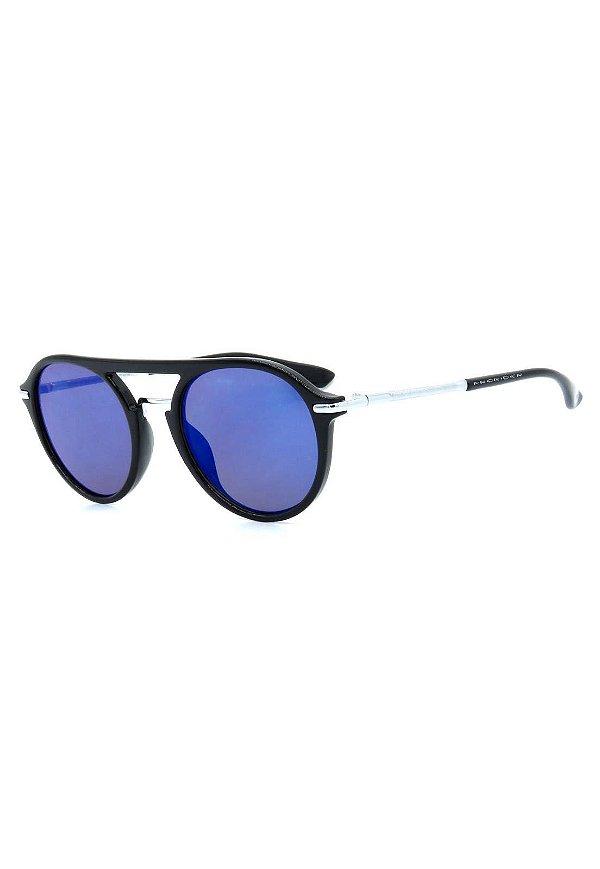 Óculos de Sol Prorider Preto e Prata com Lente Espelhada - B88-1366-1