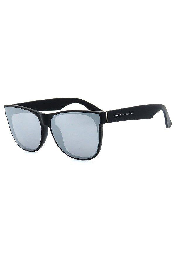 Óculos de Sol Prorider Preto e Prata com Lente Espelhada - B88-1364-2