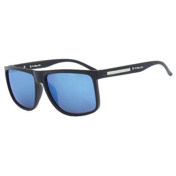 Óculos de Sol Infantil em Grilamid® TR-90 Eva Solo Quadrado Preto Espelhado