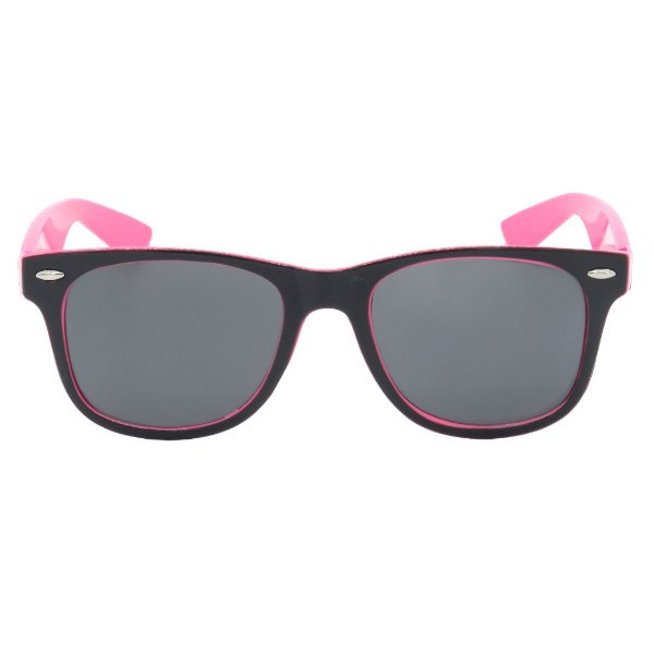 Óculos de Sol Teen em Grilamid® TR-90 Eva Solo Quadrado Preto e Pink