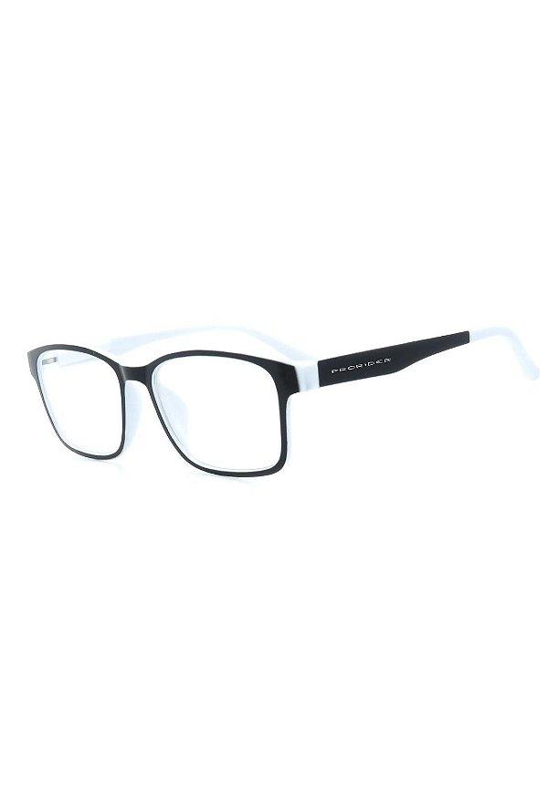 Óculos de Grau Prorider Preto e Branco - GP035