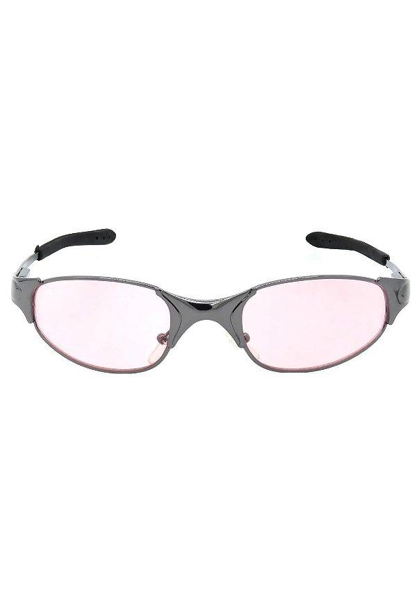 Óculos de Sol Retro Prorider Grafite com Lente Rosa  - BLAIDEN