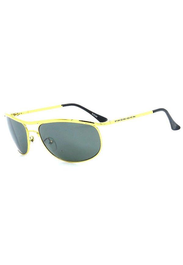 Óculos de Sol Retro Prorider Dourado Ouro com Lente Verde - BLUESKY1