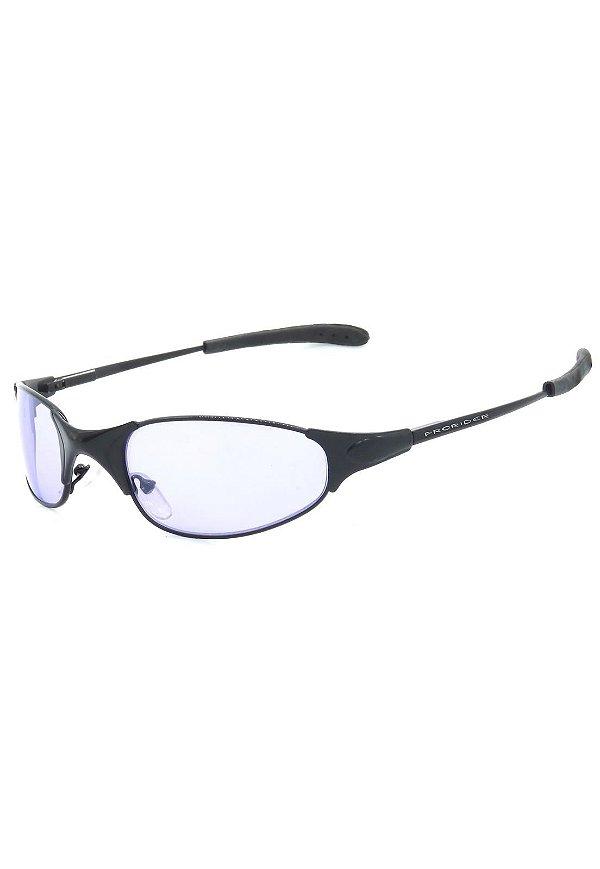 Óculos de Sol Retro Prorider Preto com Lente Lilás - BRET