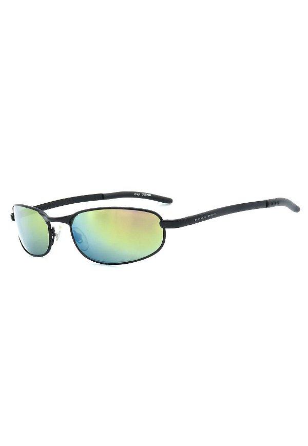 Óculos de Sol Retro Prorider Preto Fosco com Lente Espelhada - ES4016