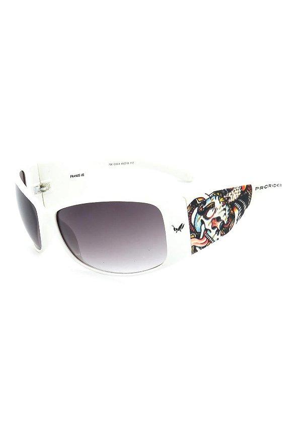 Óculos de Sol Prorider Retro Branco com Detalhes - 796C30-6