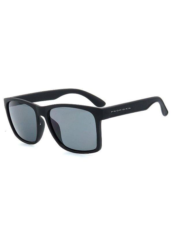 Óculos de Sol Prorider Preto Fosco Detalhado com Lente Fumê - D4443-1