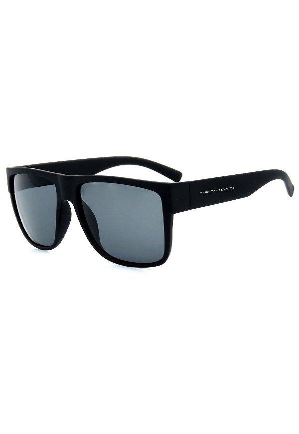Óculos de Sol Prorider Preto Fosco com Lente Fumê - D7701-1