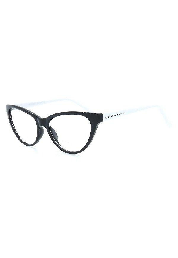 Óculos de Grau Prorider Retro Preto e Branco - CR22C3